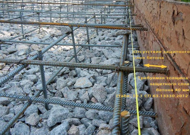 заливка бетоном монолит материки и диаметр арматуры этом