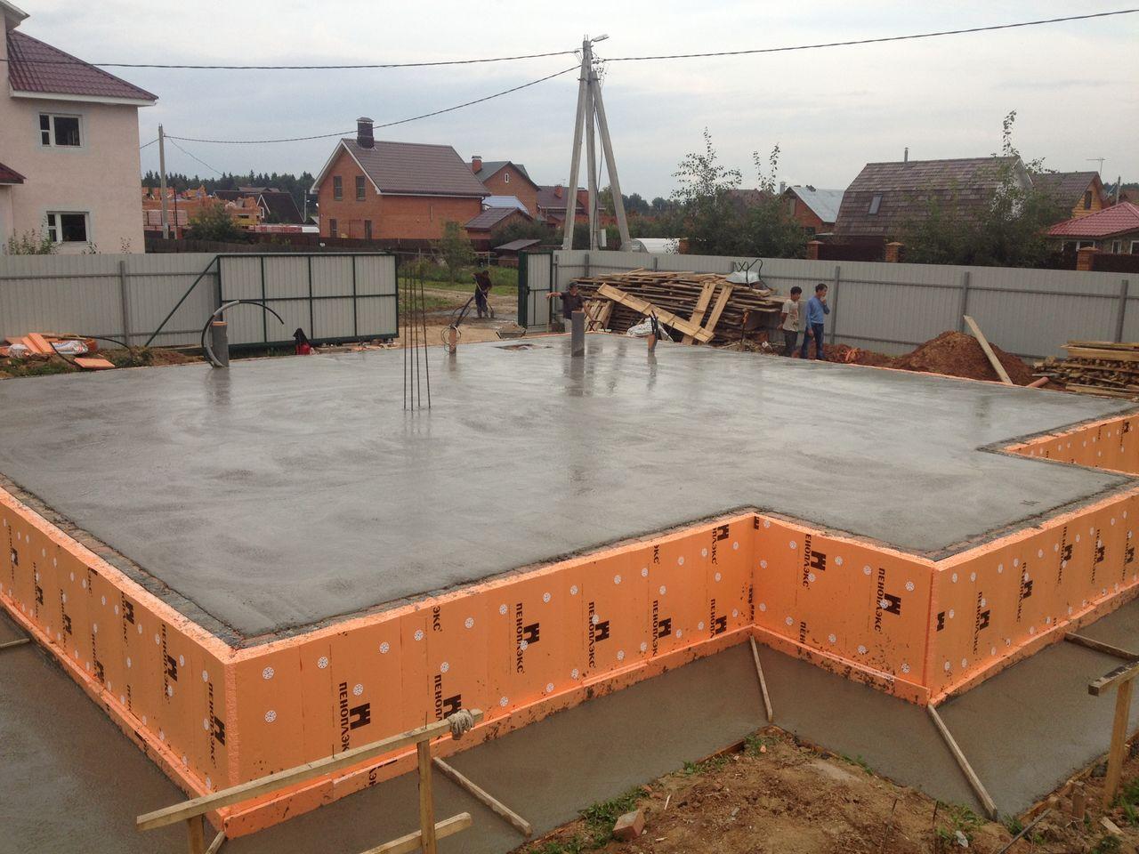 Как залить фундамент под строительство дома 21